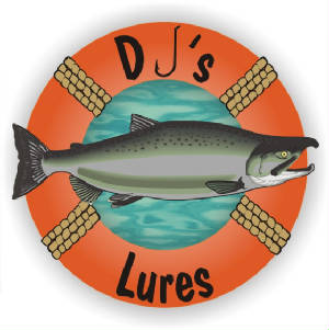DJ's Lures fancy logo